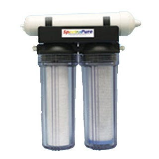 "Eliminator Reverse Osmosis Filter 100 gal/Day Purified water grows healthier, more beautiful and longer-lasting plants than ordinary tap water. Your plants will flourish with our ""better-than-rain"" quality water. SpectraPure manufactures a wide range of the highest quality water purification equipment available.Features RO at an economical price 100 and 200 US Gallons Per Day high-rejection Thin Film MembranesHigh-Capacity 1-micron carbon block pre-filter eliminates chlorine, herbicides, and other organic pollutants. High efficiency 1-micron sediment filter. Durable no rust mounting bracket . Garden hose adapter and filter wrench. Dimensions 15"" x 7"" x 16"". Benefits of Reverse Osmosis Water Maximizes nutrient uptake for faster growth and greater yields. Eliminates harmful mineral build-up which damages delicate root hairs. Stabilizes pH of recirculating rockwool, NFT and Ebb & Flow hydroponic systems. Ultra-high rejection TFC membrane eliminates up to 99% of harmful minerals, fluorides, chlorides, alkalinity, heavy metals, agricultural and industrial pollutants, chloramine, PCB's, MTBE, and arsenic."