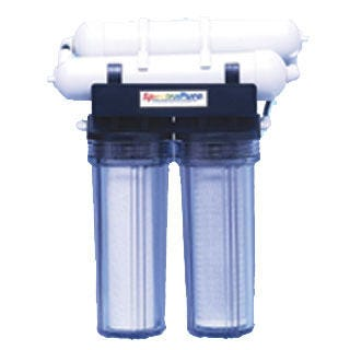 "Eliminator Reverse Osmosis Filter 200 gal/Day Purified water grows healthier, more beautiful and longer-lasting plants than ordinary tap water. Your plants will flourish with our ""better-than-rain"" quality water. SpectraPure manufactures a wide range of the highest quality water purification equipment available.Features RO at an economical price 100 and 200 US Gallons Per Day high-rejection Thin Film MembranesHigh-Capacity 1-micron carbon block pre-filter eliminates chlorine, herbicides, and other organic pollutants. High efficiency 1-micron sediment filter. Durable no rust mounting bracket . Garden hose adapter and filter wrench. Dimensions 15"" x 7"" x 16"". Benefits of Reverse Osmosis Water Maximizes nutrient uptake for faster growth and greater yields. Eliminates harmful mineral build-up which damages delicate root hairs. Stabilizes pH of recirculating rockwool, NFT and Ebb & Flow hydroponic systems. Ultra-high rejection TFC membrane eliminates up to 99% of harmful minerals, fluorides, chlorides, alkalinity, heavy metals, agricultural and industrial pollutants, chloramine, PCB's, MTBE, and arsenic."