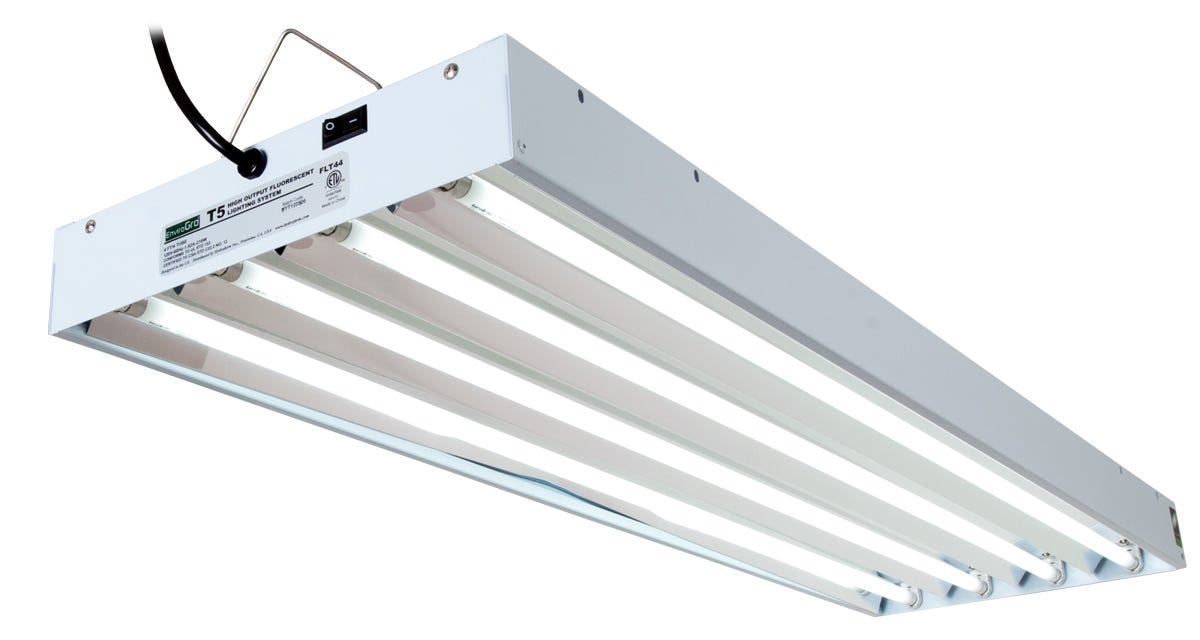 EnviroGro T5 4FT 4 Tube Fixture w/ Bulbs for Sale - Reviews, Prices ...
