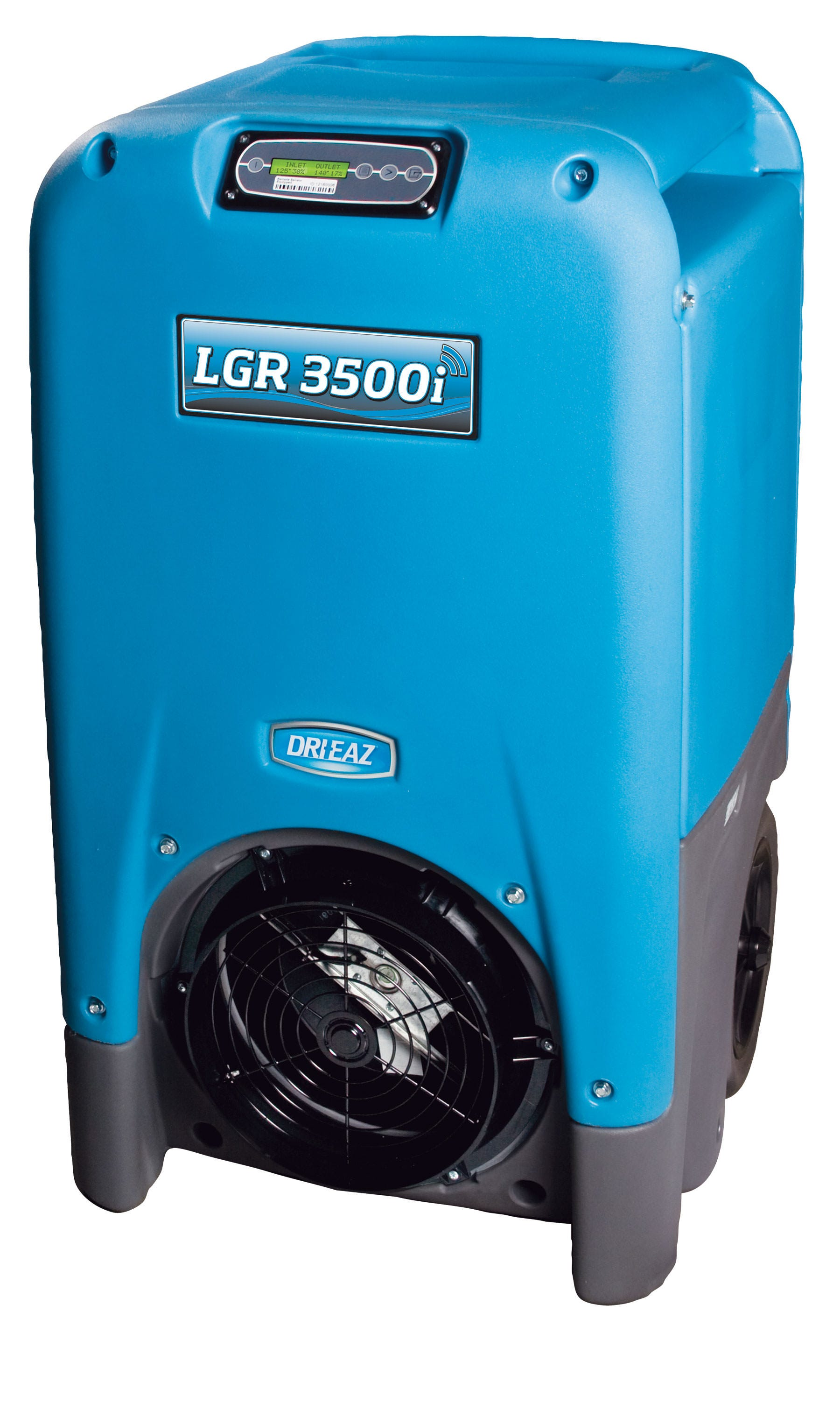 Dri-Eaz LGR 3500i Dehumidifier - 170 Pints/Day Dri-Eaz LGR 3500i Dehumidifier The Dri-Eaz LGR 3500i is designed to work intelligently, with built-in sensors and adaptive controls. The Dri-Eaz LGR 3500i puts the  i  in intelligent dehumidification. The powerful LGR dehumidifier continuously monitors its own system performance and automatically adjust airflow and defrost cycles for maximum efficiency. The control panel on the LGR 3500i displays inlet and outlet conditions. Lead time varies. Can be from a couple days to 2 weeks. Please call 855-289-1441 for lead times. The Dri-Eaz LGR 3500i is a Low Grain Refrigerant (LGR) dehumidifier. This means it can remove even more water than a conventional refrigerant dehumidifier. Additionally, the LGR 3500i is incredibly energy efficient, using only 8 amps at AHAM conditions (80F/60%RH) to produce 170 pints/day. If you want to dehumidify intelligently, choose the LGR3500i. New: All 2017 LGR i-Series units include enhanced control systems that deliver even better water removal performance, plus convenient new features such as grain depression information and filter replacement reminders to keep your drying systems at peak efficiency. Features Built-in thermo-hygrometer monitors: Displays inlet and outlet conditions Automatic humidistat controls Digital control panel features plain-English system messages, not codes. Legendary Dri-Eaz rotomolded housing is dent and scratch resistant. Unit automatically restarts if power is interrupted during operation. Technical Specifications Power: 11.2 Amps, 115 Volts, 1288 Watts Water Removal at AHAM conditions (80F/60%RH): 170 Pints/Day Water Removal at 90F/90%RH: 240 pints/day Water Removal at 80F/20%RH: 24 pints/day Process Air: 400 CFM Air Filter: 3M HAF (Dri-Eaz part no. F421) Dimensions: 40.5  H x 23  D x 24  W Power Cord: 25ft. detachable Hose: 40ft. Construction: Rotomolded polyethylene shell Safety: ETL certified to CSA 22.2 no. 92