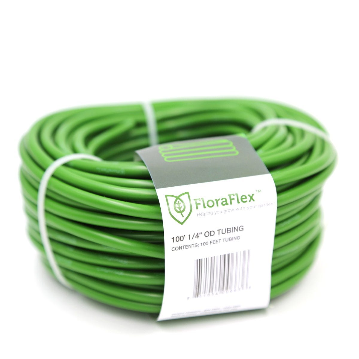 Photograph of FloraFlex 3/16 in ID - 1/4 in OD Green Tubing 100 ft Roll