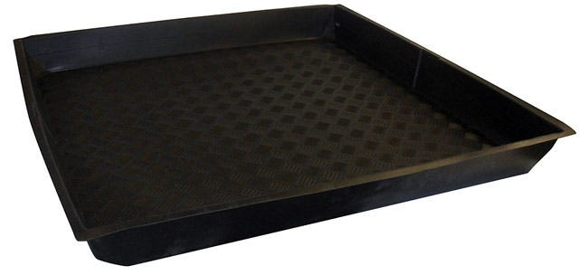 Nutriculture Flexi-Tray 39  x 39  x 4  Deep Nutriculture Flexi-Trays are an innovative solution for grow rooms with restricted access points. These trays goes where others can't, they can fold up! For use as catchment trays, or to keep work spaces clean, these high-quality flexible trays fit most spaces and fold easily for transport and storage. Ideal for most popular sizes of grow tents.