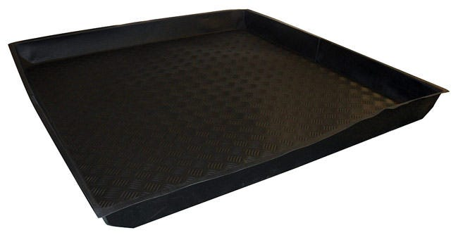 Nutriculture Flexi-Tray 48  x 48  x 4  Deep Nutriculture Flexi-Trays are an innovative solution for grow rooms with restricted access points. These trays goes where others can't, they can fold up! For use as catchment trays, or to keep work spaces clean, these high-quality flexible trays fit most spaces and fold easily for transport and storage. Ideal for most popular sizes of grow tents.