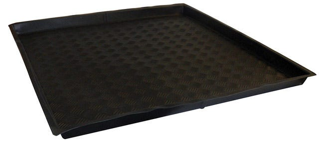 Nutriculture Flexi-Tray 39  x 39  x 2  Shallow Nutriculture Flexi-Trays are an innovative solution for grow rooms with restricted access points. These trays goes where others can't, they can fold up! For use as catchment trays, or to keep work spaces clean, these high-quality flexible trays fit most spaces and fold easily for transport and storage. Ideal for most popular sizes of grow tents.
