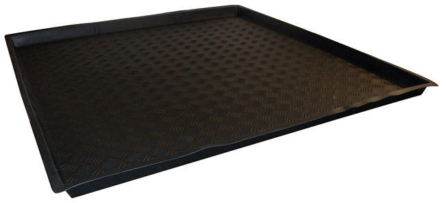 Nutriculture Flexi-Tray 48  x 48  x 2  Shallow Nutriculture Flexi-Trays are an innovative solution for grow rooms with restricted access points. These trays goes where others can't, they can fold up! For use as catchment trays, or to keep work spaces clean, these high-quality flexible trays fit most spaces and fold easily for transport and storage. Ideal for most popular sizes of grow tents.