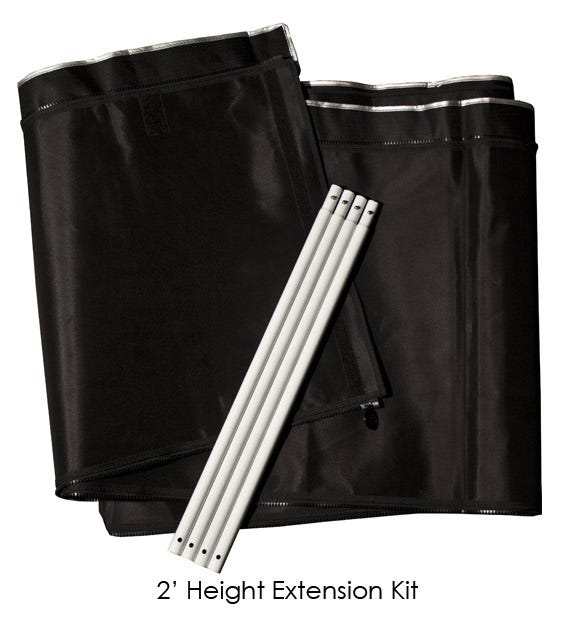 Photograph of Gorilla Grow Tent  - LITE LINE -  1FT Height Extension Kit  2 x 4