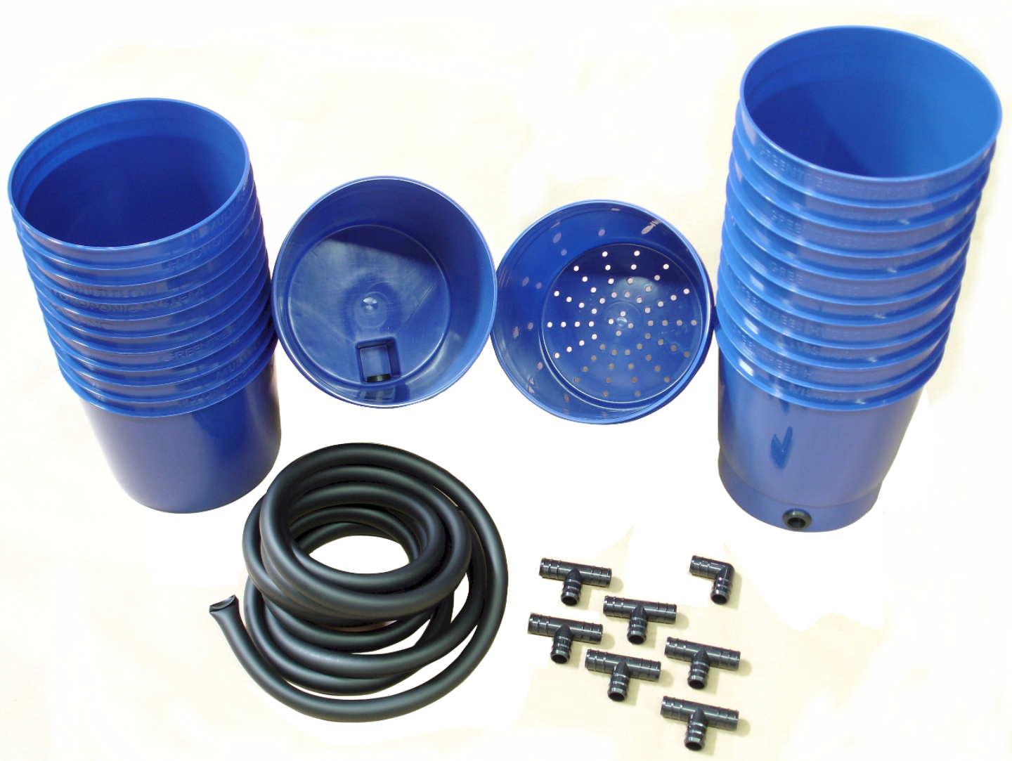 Photograph of Greentrees Hydroponics Add-on Pots Kit (6 complete pots, fittings and tubing included)