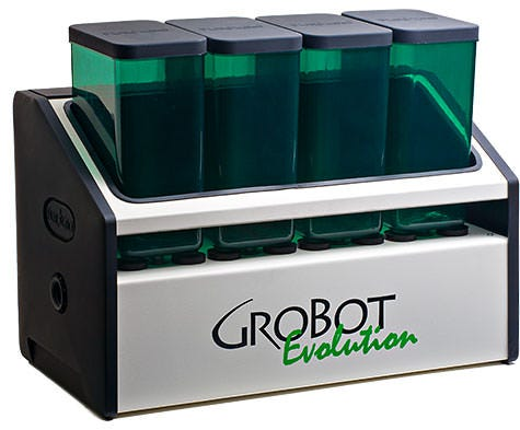 GroBot Complete Kit The GroBot Evolution is the second generation of PurGro's all-digital grow room controller. The EVO has the built-in sensors, injection pumps and wireless plug-in relays to run your entire grow room or greenhouse from Lights to CO2 and everything in between. Set your grow calendar and let your 'Bot grow the plants. Consistently, correctly and simply grow like a pro!