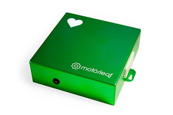 Motorleaf Heart Environmental Monitor and Controller *DISCONTINUED* We are sorry for the inconvenience, this product has been discontinued. Please see our selection of multi-function controllers for an alternative. The Motorleaf HEART is a great solution for comprehensive environmental control with the BEST software in the game. The Motorleaf HEART is the Motorleaf's monitoring and automation system. It can operate separately to monitor air temperature, relative humidity, and light level. The Motorleaf HEART can connect to and control the PowerLeaf, Droplet, and Driplet to monitor and control more aspects of your grow environment. With the Motorleaf HEART you can: Control your grow environment. Monitor Air Temperature, Relative Humidity, and Light levels. Control your root feeder pump and lights with an internal timer measured by the second. View your data in graph form. Configure email and desktop alerts for important set points throughout your indoor environment. Calibrate sensors. Ethernet and Wifi Capabilities. Plug in any USB webcam for crop monitoring Plug in our preferred IP camera for general motion detection and time lapse functionality Online and Stealth Mode (Offline) capability. Custom alerts only work in online mode (other than via desktop). Motorleaf HEART Specs: 2 outputs (root feeder and Lights) @ 15A max. Timer function for outputs, resolution 0:01. Relative Humidity Sensor 0.01% resolution, accuracy 2%. Temperature Sensor 0.01 resolution, Range between 0 – 50 C/32 – 125F, Accuracy 1C/2F. Light Sensor 0.01 % resolution, accuracy 2%. Operating Temperature Range - 0 – 50 C/32 – 125F