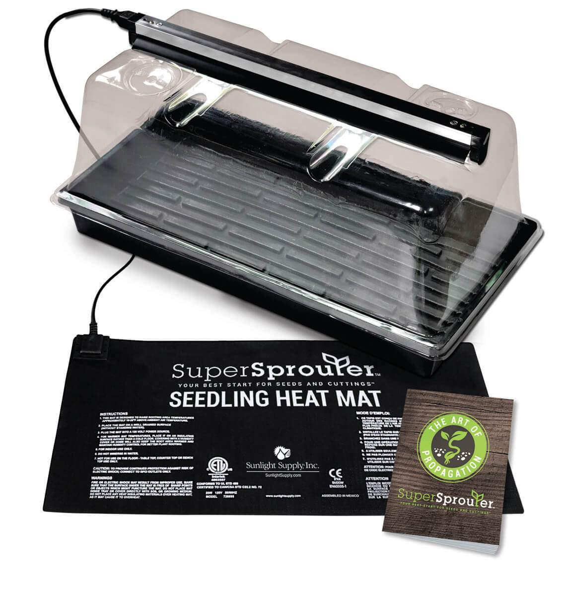 Photograph of Super Sprouter Premium Germination & Propagation Kit w/ 7 in Dome & T5 Light