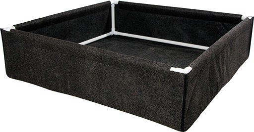 "Dirt Pot Box, 4' x 4' Dirt Pot Box, 4' x 4' The Dirt Pot Box from Hydrofarm offers value and versatility. They can be used for raised bed gardens or as tray liners for hydroponics systems. Dirt Pots feature porous breathable fabric. They allow your plants to thrive by promoting exceptional root health and vigorous growth. While these work well outdoors, they also fit standard hydroponics trays for use indoors. It's PVC frame makes the Dirt Pot Box stronger than similar products. Dirt Pot Box Features: Instant raised bed or framed tray liner Sturdy frame supports top, bottom, and corners Sized to fit INSIDE all of our Active Aqua trays, including Low Rise trays Also fits competitors' trays Breathable fabric means superior drainage and aeration Washable and durable—can be used season after season Assembled Dimensions of 46""L x 46""W x 12""H BPA-free"