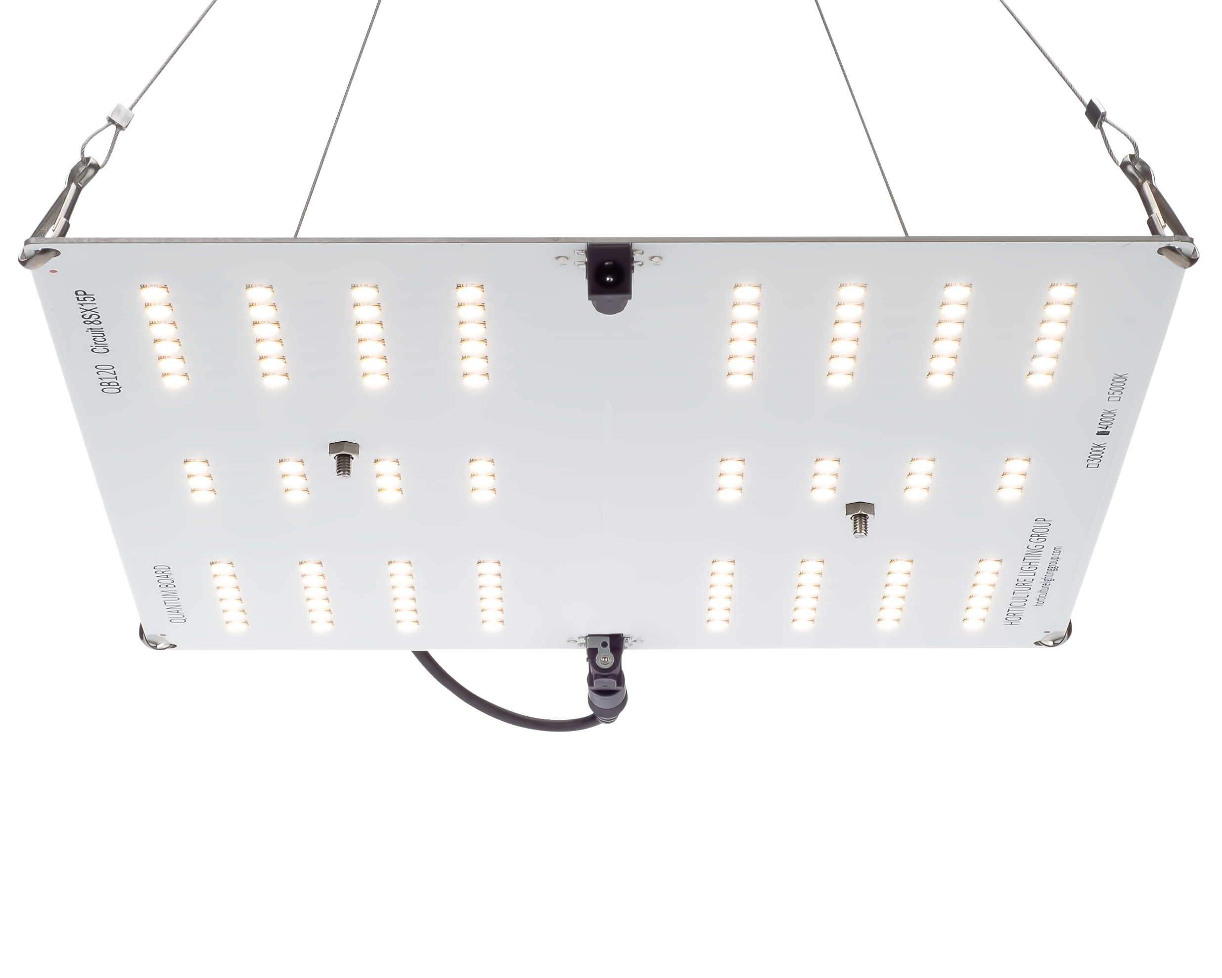 Horticulture Lighting Group HLG 65 V2 LED - 65W 1 Quantum Boards Horticulture Lighting Group's HLG 65 V2 Lamp is designed for vegging, clones, supplement light or a small plant. This lamp uses our custom designed High efficiency white light Quantum Boards. With a total of 120 pcs Samsung LM301B LED's, this fixture produces 10,000 Lumens with just 65 Watts of power. Equivalent to 150W T5 or 200W CFL output or 150W metal halide. Comes in 4000K spectrum. Not Daisy Chainable. TOP FEATURES High efficiency QB120 Quantum Board White Light Full Spectrum 4000K. Ideal for veg and flowering in small spaces Reliable passive cooled design Better canopy light penetration with diffused light Non-Dimmable Meanwell Power Supply included with NEMA 1-15p plug DIMMINGDoes not include dimming. Compatible with DC LED Rotary and Remote PWM dimmer that are rated 24VDC 2.5A or higher. SPECIFICATIONS Power 65 Watts Voltage Range 90-264 VAC LED 120 pcs Samsung LM301B Flowering Footprint 2'X1' or 1'X2' Veg Footprint 2'X2' System Efficiency 165 Lm/W System PPF Efficacy 2.35 μmol/joule Total output 152 PPF Dimensions 11  x 9.5
