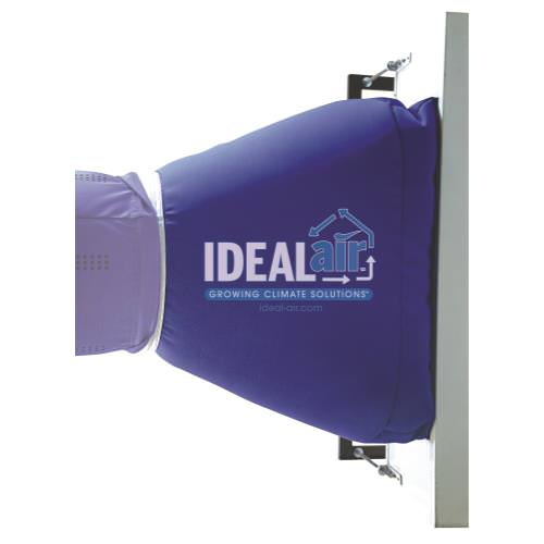 """Ideal-Air Gro-Sok Transition System *DISCONTINUED* This item has been discontinued, Please try our selection of Ducting / 16 Inch or Reducers, Connectors for an alternative. The Ideal-Air Gro-Sok Transition System is designed to be used with the Gro-Sok for optimal air distribution. They are lightweight, draft free, condensation resistant, machine washable and anti-microbial. Ideal-Air Gro-Sok Transition Systems are quick and easy to install. With """"no noise technology"""" you will be assured of quiet operation. Ideal Air has designed the Gro-Sok using heat load and duct design technology to provide even and efficient air flow. You're assured of getting the greatest air distribution benefits more efficiently, which reduces operating costs. Dimensions 40 L x 28 W x 16 H, 0.3935cf. Proper duct and equipment sizing is critical to a successful environment. Ideal-Air Gro-Sok Transition Systems are designed to fit specific air conditioners/heat pumps, as noted below. Ideal-Air Gro-Sok Distribution System"""