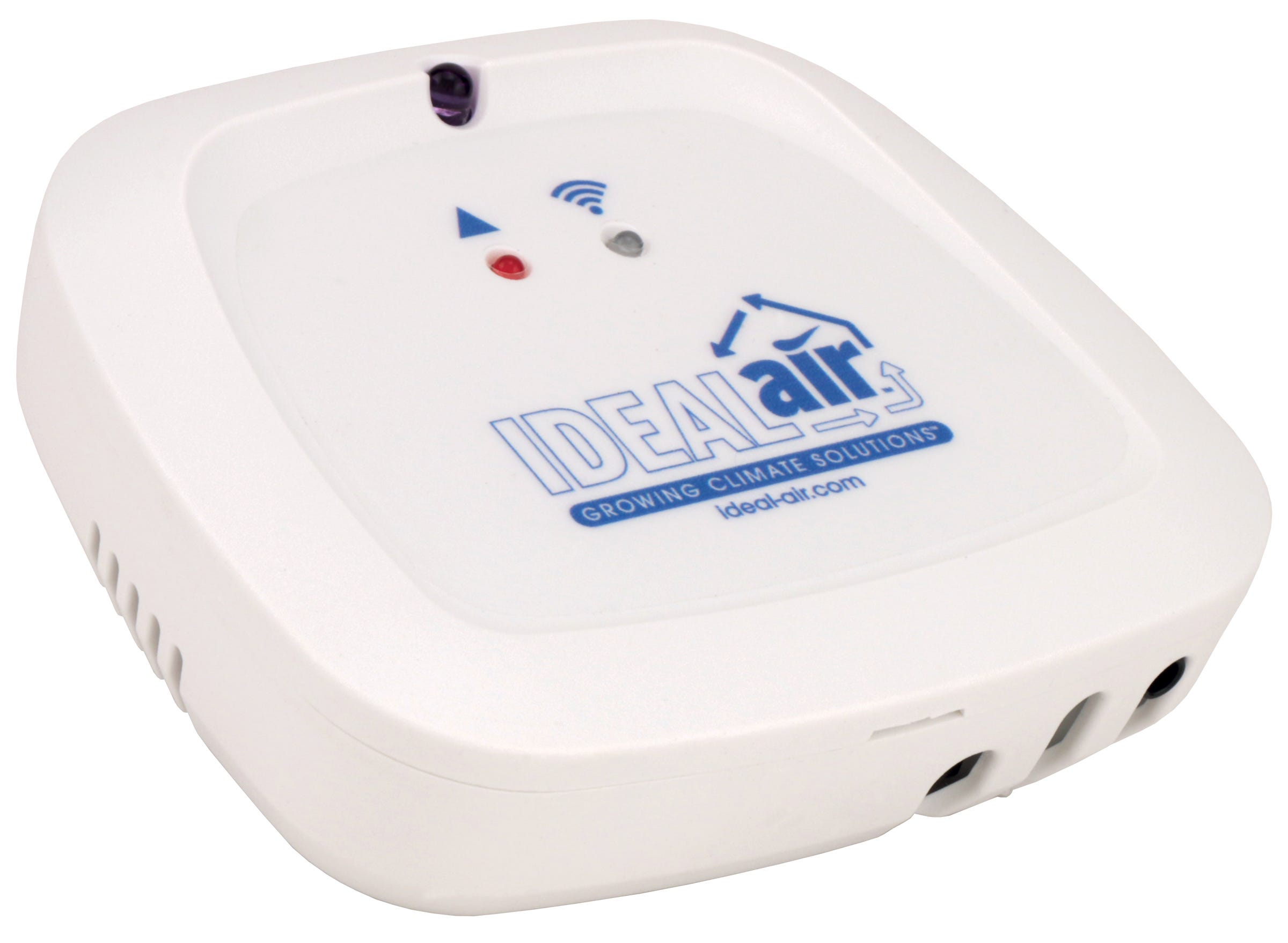 Ideal-Air Wi-Fi Mini Split Controller Ideal-Air Wi-Fi Mini Split Controller The Ideal-Air Wi-Fi Mini Split Controller bridges the gap between the rapidly developing smart phone industry and the residential heating and cooling industry. Once securely connected to your wireless router you will be able to control your air-conditioner & heat-pump through our smart phone app. The Ideal-Air Wi-Fi Mini Split Controller uses patented technology which allows for a secure connection to your local wireless router through your smart phone. Communication to your air-conditioner & heat-pump unit is via three powerful infrared diodes (iR emitters) each with an emitting range of up to 50 feet. The Ideal-Air Wi-Fi Mini Split Controller has an internal temperature sensor which allows for real time readings at your home or office. If you need to turn on your air-conditioner or heat-pump, change its mode, adjust the set temperature, fan speed or even set up the smart timer feature, it's right at your fingertips. Cloud based, the Ideal-Air Wi-Fi Mini Split Controller will always be up to date with the latest software releases. The Wi-Fi Controller will only join 2.4GHz Wi-Fi networks, not 5GHz ones.