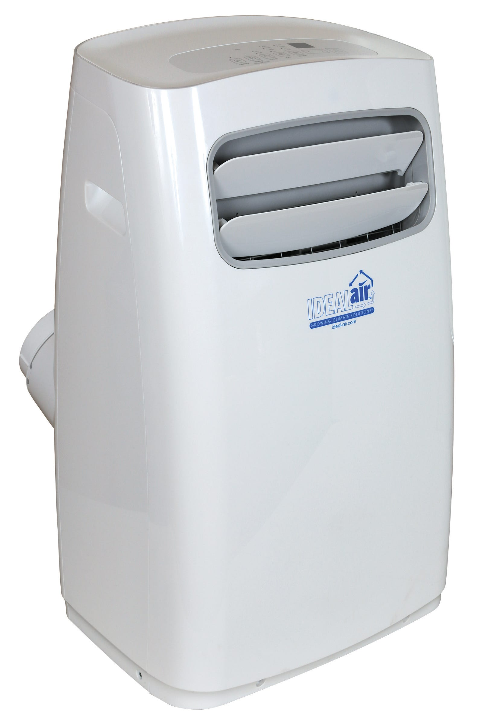 Ideal-Air Dual Hose Portable Air Conditioner 14,000 BTU *DISCONTINUED* This item has been discontinued, Please try our selection of Air Conditioners for an alternative. Ideal-Air Dual Hose Portable Air Conditioner 14,000 BTU The Ideal-Air Dual Hose Portable Air Conditioner 14,000 BTU operates with one hose for the condenser intake and the other is for the condenser hot air discharge. It has an auto restart function. The Ideal-Air Dual Hose Portable Air Conditioner has easy to control with a digital control panel and a handheld remote control thermostat. The filter is removable and washable. It has a heavy duty compressor with a 3-speed fan motor. It uses a self-evaporative condensation removal system, this system helps to reduce the need for external drainage as condensate water is used in the cooling process. Condensate water is expelled as a fine mist through the hot air exhaust hose. The Ideal-Air Dual Hose Portable AC includes: 2 flexible duct hoses (5 ft each) 2-piece adjustable window insert 1 foam window insert seal and 4 duct and hose fittings Supply voltage: 115 Volt/60 Hz/11.8 Amps/1520 Watts/14,000 BTU. Ideal-Air Dual Hose Portable AC specifications: Dehumidification removal 70 pints per day (24 hour period). Supply voltage: 115 Volt/60 Hz/11.8 Amps/1520 Watts/14,000 BTU.
