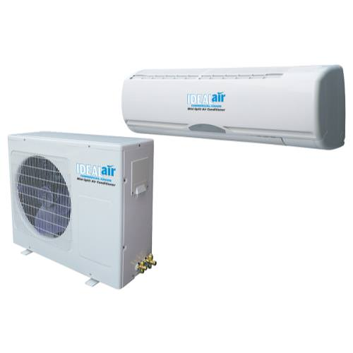 Ideal-Air Professional Installation Mini Split Air Conditioner 24,000 BTU 13 SEER *DISCONTINUED* Note: This product requires professional installation. This version of the Ideal-Air mini split comes with a 25 foot long, insulated soft copper refrigerant lineset with 3/8  liquid line and 5/8  gas line. Also included is an interconnector wire with 25 feet of 14 Ga, 4 conductor wire. Uses insulated cooper tube refrigerant lines (included, 25 ft in length and also includes indoor/outdoor unit interconnector wire). Offers cooling only in standard 13 SEER efficiency. All warranty related diagnosis and repair to be performed by qualified HVAC Technician. See limited warranty statement at www.ideal-air.com. We recommend using part #700524, Low Ambient Outdoor Fan Control Kit, for most installations to ensure the product will properly function when outdoor temperatures fall below 49°F. Uses 240 Volt power and requires a dedicated 20 Amp circuit. All Ideal-Air air conditioners need surge protection, see part #700522 ICM Dual Voltage Surge Protector. Can be used with optional programmable thermostat with up to 4 temperature settings daily, see part #700520 LuxPro Digital Thermostat. Cooling Power/Capacity: 10 amps/2,200 watts/24,000 BTU. dB Rating: Indoor 32 dB, Outdoor 45 dB. Designed for cooling with outside temperatures ranging from 49°F to 105°F. Use outside of these temperatures is not recommended and IS NOT COVERED UNDER WARRANTY.