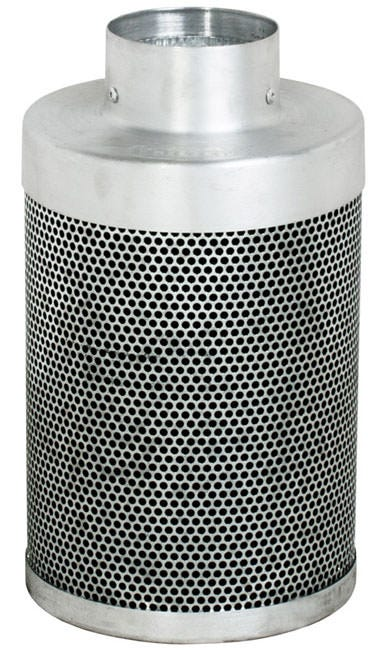 Phat Filter 12 inch x 4 inch, 200 CFM The Phat Filter is a professional grade, world renowned greenhouse filter that will remove the nastiest odors from your growing area. Phat filters use a very special charcoal carbon that comes from a source of pre-Cambrian ore, or some of the oldest carbon found on earth. This carbon dates back 250 million years and is the reason our Phat Filters are so effective! The special carbon is mined from deep within the earth, activated with steam at very high temperatures and shipped to us for use. No hazardous compounds ever come into contact during the activation process. Keeping our planet green and clean is what we are all about! Genuine Phat Filters offer you the quality you can trust through non-pelletized carbon, using no glues or binders thereby increasing the effective filtering capability of Genuine Phat Filters. Featuring RC 412 Charcoal Includes Prefilter Given CFM rating is for scrubbing. Divide by 2 to get exhaust filter CFM Characteristics of Phat Filters: * Highly effective, Low density virgin carbon * Carbon tightly-packed for increased porosity * Greater & more even air movement provided by internal, conical filter base * Manufactured so that no air blows by the filter without being filtered * Outer aluminum mesh provides 53% open area allowing increased air flow * Genuine Phat Filters are immediately sealed after manufacture to help retain moisture, optimize presentation and improve life expectancy