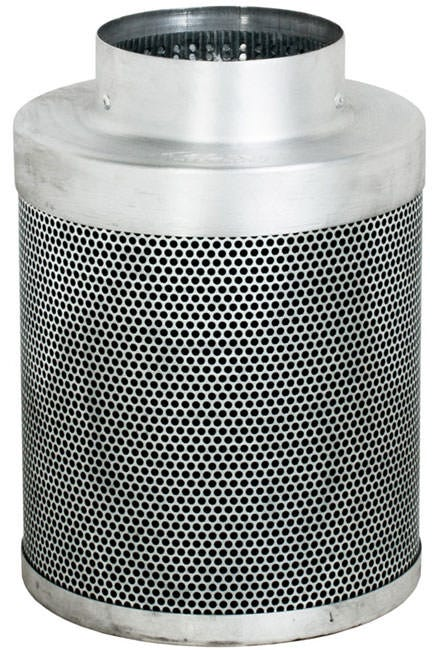 Phat Filter 12 inch x 6 inch, 275 CFM The Phat Filter is a professional grade, world renowned greenhouse filter that will remove the nastiest odors from your growing area. Phat filters use a very special charcoal carbon that comes from a source of pre-Cambrian ore, or some of the oldest carbon found on earth. This carbon dates back 250 million years and is the reason our Phat Filters are so effective! The special carbon is mined from deep within the earth, activated with steam at very high temperatures and shipped to us for use. No hazardous compounds ever come into contact during the activation process. Keeping our planet green and clean is what we are all about! Genuine Phat Filters offer you the quality you can trust through non-pelletized carbon, using no glues or binders thereby increasing the effective filtering capability of Genuine Phat Filters. Featuring RC 412 Charcoal Includes Prefilter Given CFM rating is for scrubbing. Divide by 2 to get exhaust filter CFM Characteristics of Phat Filters: * Highly effective, Low density virgin carbon * Carbon tightly-packed for increased porosity * Greater & more even air movement provided by internal, conical filter base * Manufactured so that no air blows by the filter without being filtered * Outer aluminum mesh provides 53% open area allowing increased air flow * Genuine Phat Filters are immediately sealed after manufacture to help retain moisture, optimize presentation and improve life expectancy