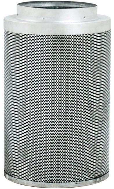 Phat Filter 24 inch x 12 inch, 950 CFM - Discontinued The Phat Filter is a professional grade, world renowned greenhouse filter that will remove the nastiest odors from your growing area. Phat filters use a very special charcoal carbon that comes from a source of pre-Cambrian ore, or some of the oldest carbon found on earth. This carbon dates back 250 million years and is the reason our Phat Filters are so effective! The special carbon is mined from deep within the earth, activated with steam at very high temperatures and shipped to us for use. No hazardous compounds ever come into contact during the activation process. Keeping our planet green and clean is what we are all about! Genuine Phat Filters offer you the quality you can trust through non-pelletized carbon, using no glues or binders thereby increasing the effective filtering capability of Genuine Phat Filters. Featuring RC 412 Charcoal Includes Prefilter Given CFM rating is for scrubbing. Divide by 2 to get exhaust filter CFM Characteristics of Phat Filters: * Highly effective, Low density virgin carbon * Carbon tightly-packed for increased porosity * Greater & more even air movement provided by internal, conical filter base * Manufactured so that no air blows by the filter without being filtered * Outer aluminum mesh provides 53% open area allowing increased air flow * Genuine Phat Filters are immediately sealed after manufacture to help retain moisture, optimize presentation and improve life expectancy