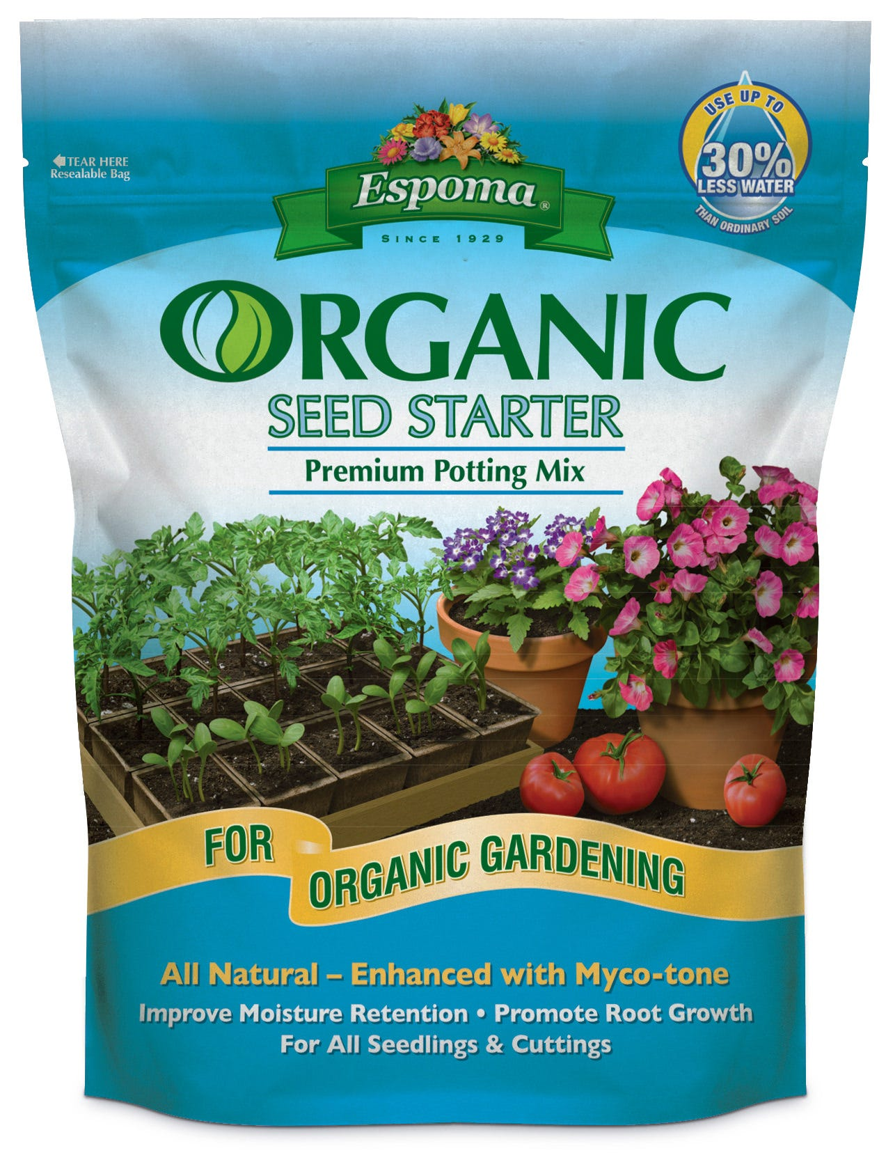 Espoma Organic Seed Starting Mix 8 QT Seed Starting, Seedling, Seedstarting Supplies, Gardening, Seed-Starting, Garden