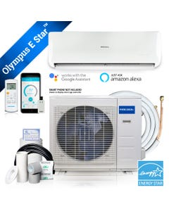 MrCool Olympus ENERGY STAR 24,000 BTU 2 Ton Ductless Mini Split Air Conditioner and Heat Pump - 230V/60Hz