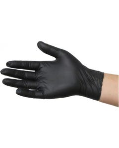 Common Culture Black Powder Free Nitrile Gloves Medium (100/Box)