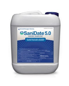 BioSafe Systems - SaniDate 5.0 Sanitizer/Disinfectant - 2.5 Gallon