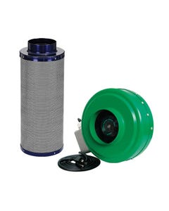 Active Air - 6 in Inline Duct Fan + Carbon Filter Combo (6x24)
