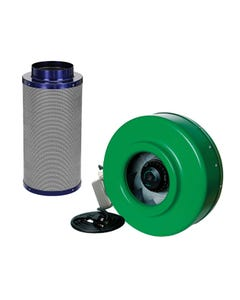 Active Air - 8 in Inline Duct Fan + Carbon Filter Combo (8x24)