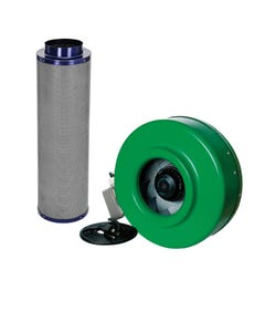 Active Air - 8 in Inline Duct Fan + Carbon Filter Combo (8x39)