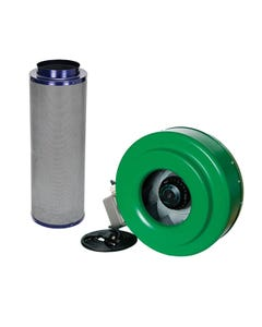 """Active Air - 10"""" Inline Duct Fan + Carbon Filter Combo (10x39)"""