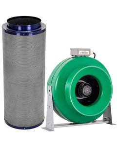 """Active Air - 12"""" Inline Duct Fan + Carbon Filter Combo (12x39)"""
