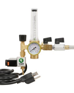 Titan Controls CO2 Two Tank Regulator System with Shutoff Valves