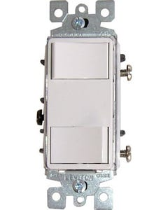 QuietCool Double Single Pole Switch + Plate