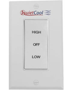 QuietCool HIGH/LOW/OFF Rocker Switch & Plate