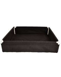 """GeoPot GeoPlanter and Tray Liner Black 4' x 4' x 12"""" 120 Gallons"""
