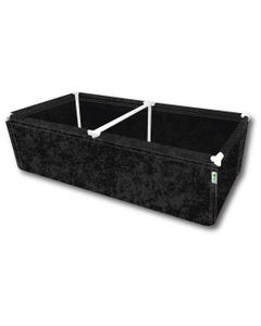 """GeoPot GeoPlanter and Tray Liner Black 4' x 8' x 12"""" 240 Gallons"""