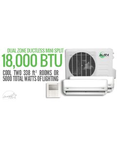 Aura Systems 18,000 BTU Dual Zone Mini-Split