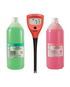 Hanna pH Checker Complete Starter Kit with 4 + 7 Calibration Solution