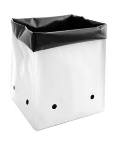 Plastic PE Grow Bags White Outside and Black Inside