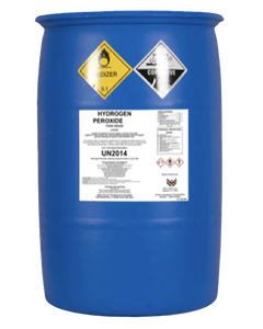 Hydrogen Peroxide Liquid Oxygen H2O2 34% Food Grade 55 Gallon Bulk Drum