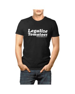 Growers House Legalize Tomatoes T-Shirt - White on Black
