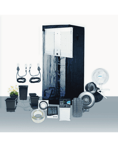 2.5' x 5' Grow Room 300W 4K HLG LED Hydro Complete Grow Tent Package