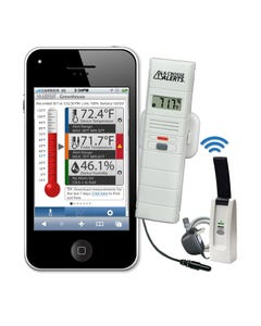 La Crosse Temperature & Humidity Wireless Alert System - Text & Email Function - New App-Based Model: 926-25101-WGB