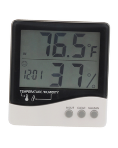 Growers Edge Large Display Thermometer + Hygrometer