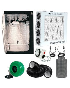 Black Dog PhytoMAX-2 400W LED Grow Room Package - 4 x 4