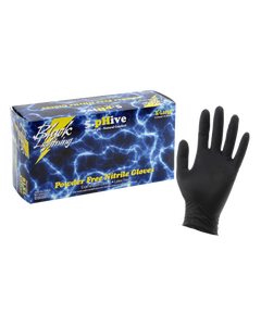 Black Lighting Powder Free Nitrile Gloves Large (100/Box)