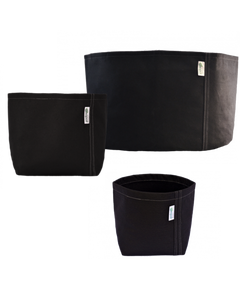 GeoPot Self-Supporting Square Bottom - Black (pack of 10)
