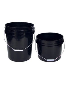 Black Plastic Buckets -- 5 Gallon with Handle