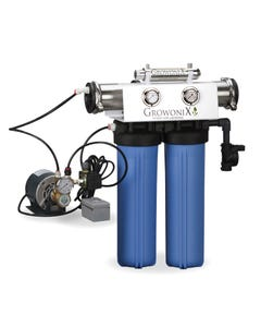 GrowoniX EX1000-T Deluxe Reverse Osmosis System with UV, Pump + Solenoid Valve 2000GPD
